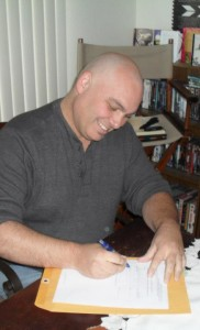 Rod R. Garcia, signing his First Book Contract!