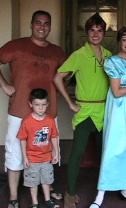 Rod & Jakob with Peter Pan & Wendy